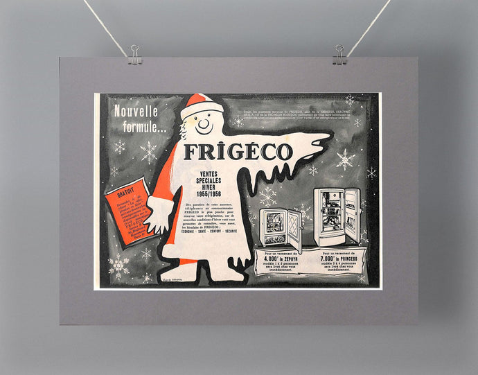 1950's Frigeco Fridges Original French Advert