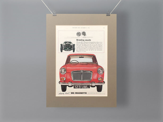 1964 MG Magnette Original Advert