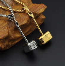 Load image into Gallery viewer, Necklaces Vintage Thor Hammer Pendant Necklace