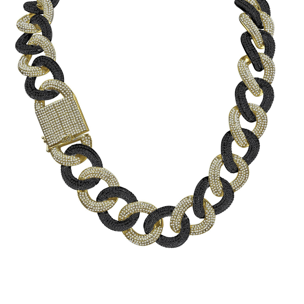 Necklaces Miami Cuban Gold and Black Chain Necklace