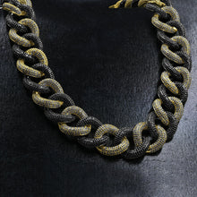 Load image into Gallery viewer, Necklaces Miami Cuban Gold and Black Chain Necklace