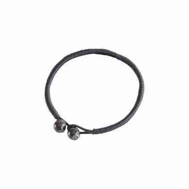 Bracelets Powerful Strength Black String Ceramic Bracelets [Set of 2]
