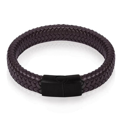 Sleek Men's Braided Leather Bracelet [4 Variants] - Ring to Perfection