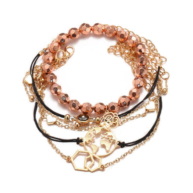 Bracelets Chemist Around the World Rose Gold 6 Piece Set