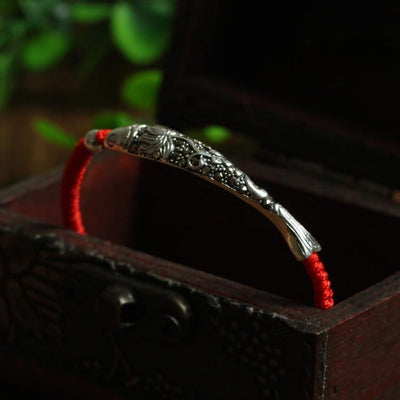 Lucky Sterling Silver Koi Protection Bracelet - Ring to Perfection