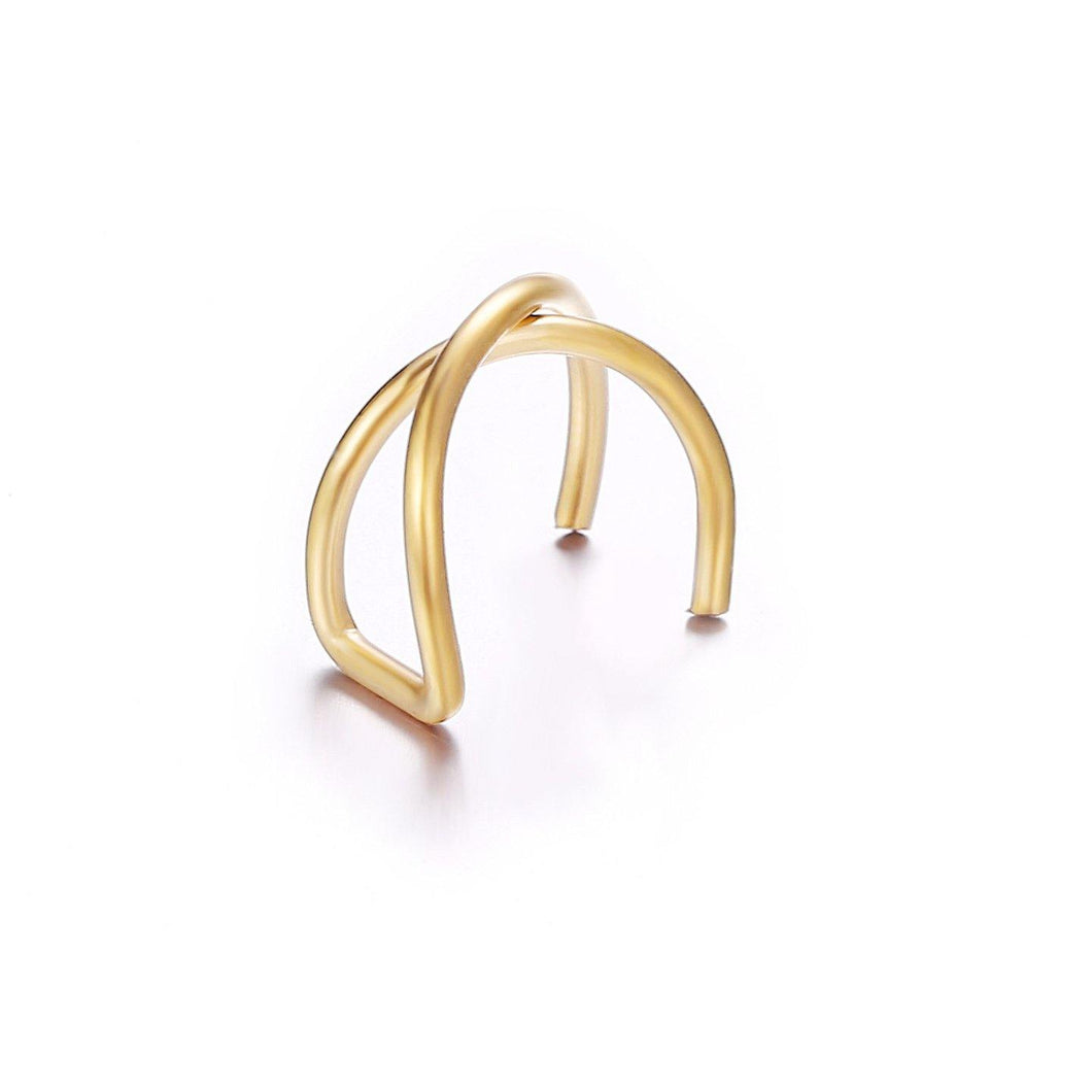 Earrings 18K Gold Plated 2-Piece Ear Cuff Earrings