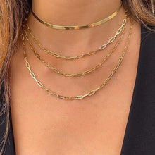 Load image into Gallery viewer, Necklaces 18K Gold Plated 4 Piece Chain Link Set Necklace