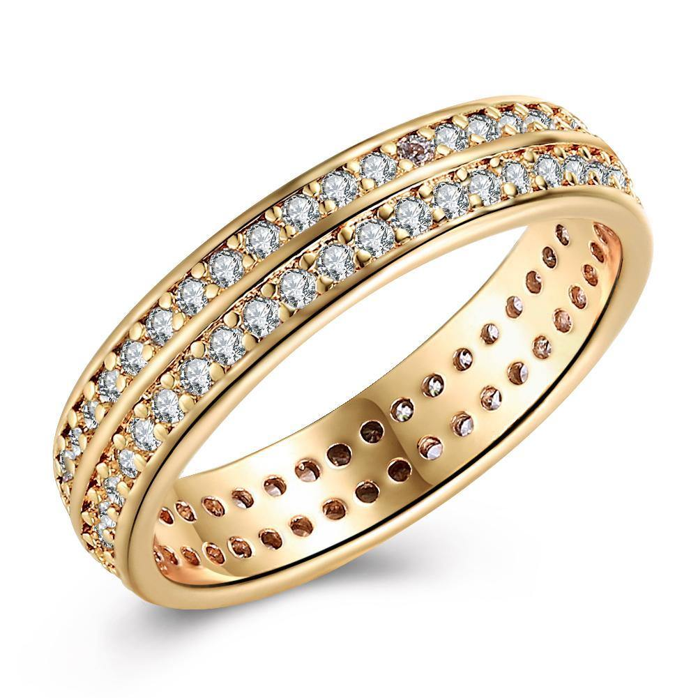 18K Gold Plated Ninetta Pave Ring made with Swarovski Crystals