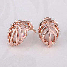 Load image into Gallery viewer, Valentina Stud Earring in 18K Rose Gold Plated
