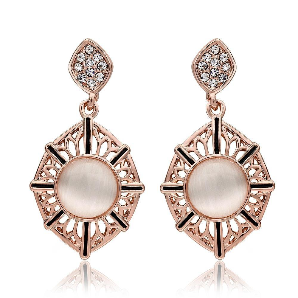 Earrings Marquise Resin Drop Earring in 18K Rose Gold Plated