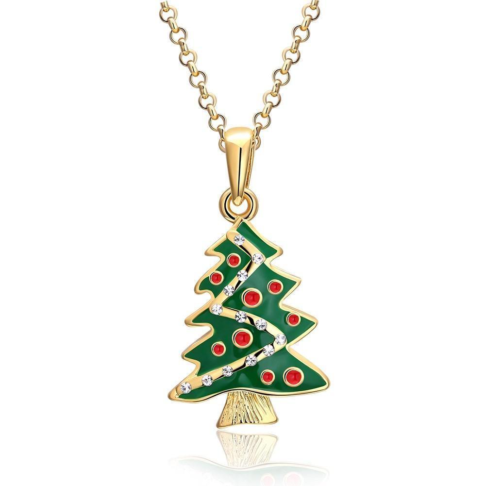 Necklaces 18K Gold Plated Christmas Tree Necklace