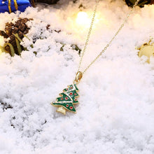 Load image into Gallery viewer, Necklaces 18K Gold Plated Christmas Tree Necklace