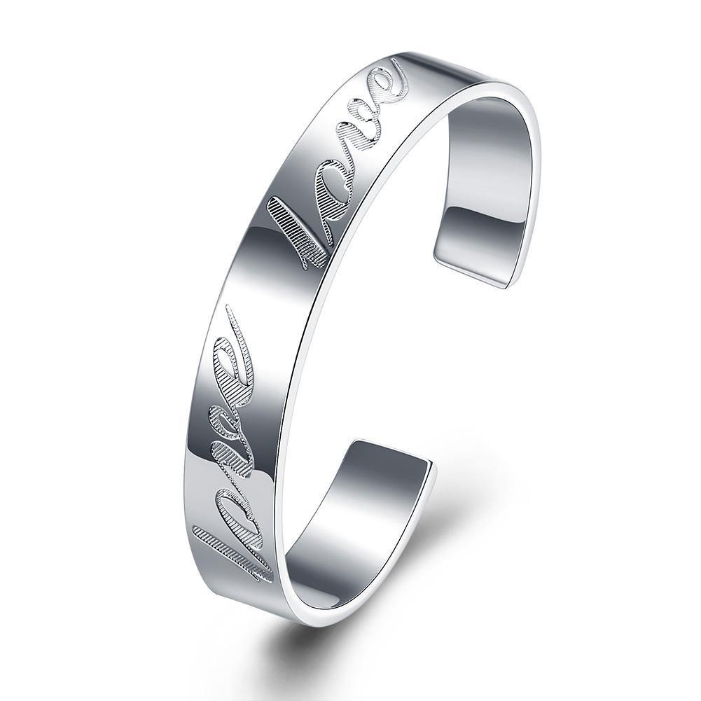 Bracelets LOVE Bangle in 18K White Gold Plated