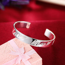 Load image into Gallery viewer, Bracelets LOVE Bangle in 18K White Gold Plated