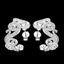 Load image into Gallery viewer, Earrings 18K White Gold Plated Hoop Stud Earring