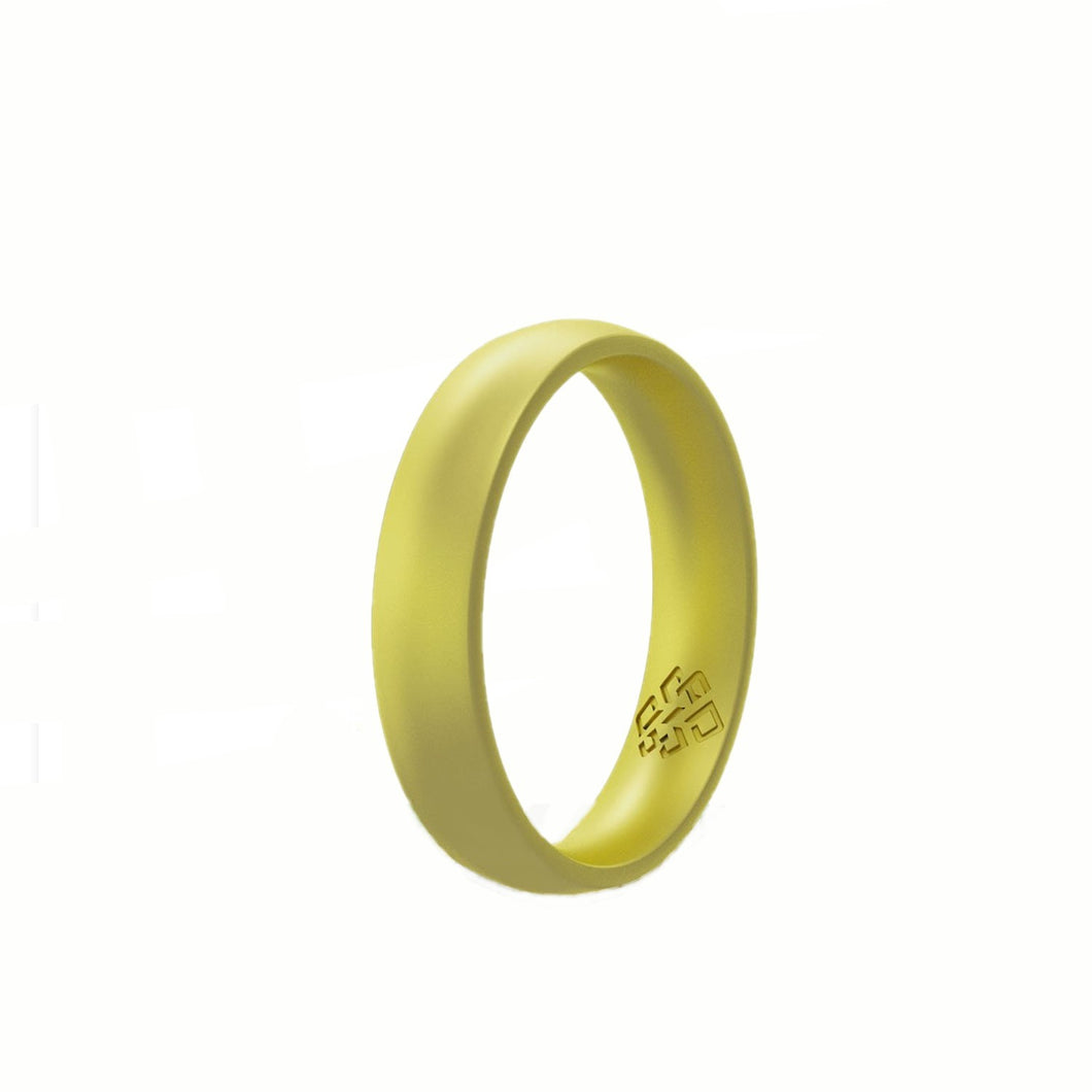 Peridot Green Silicone Ring For Women