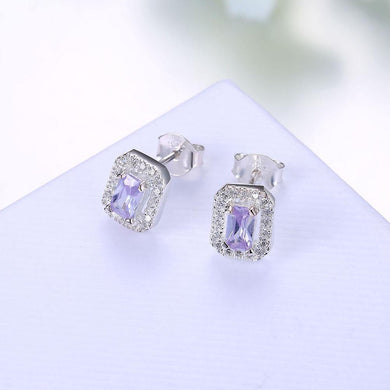 Earrings Sterling Silver Stud Earring with Swarovski Crystals
