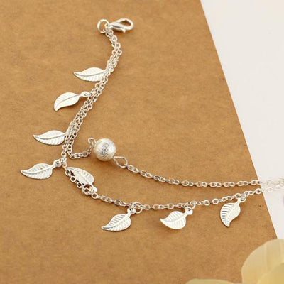 Bohemian Leaf Charms Anklet [2 Variants] - Ring to Perfection