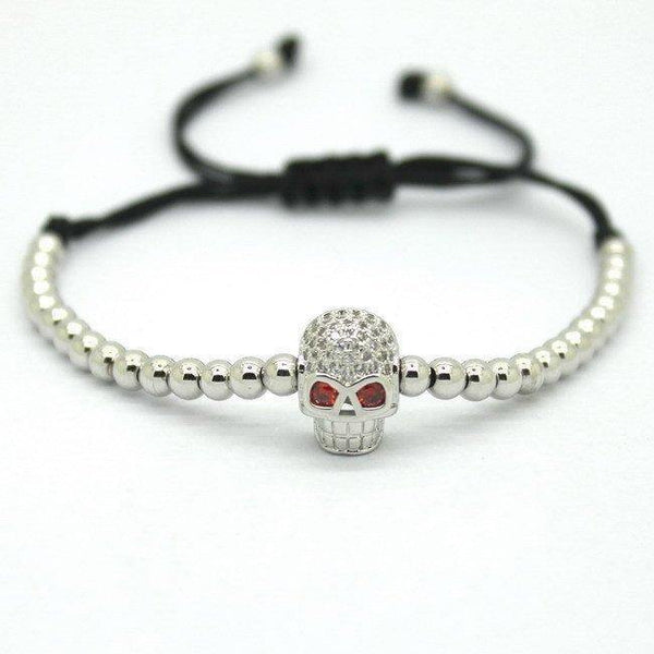 18K Gold Plated Beads Skull Unisex Bracelet [4 Variations] - Ring to Perfection