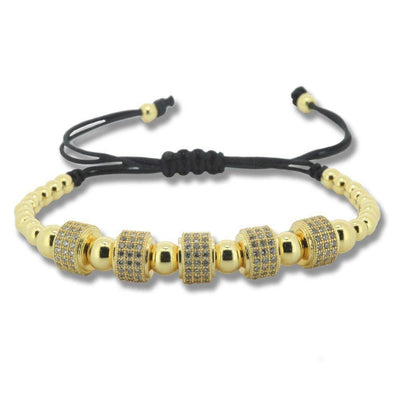 24K Gold Crystal Pave Setting Micro Zircon Macrame Bracelet [5 Variants] - Ring to Perfection