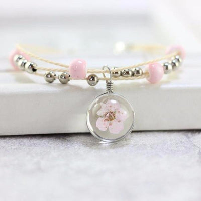 Dried Flowers Glass Ball Ceramic Bracelets [8 Variants] - Ring to Perfection