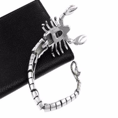 Fierce Stainless Steel Scorpion Bracelet - Bracelets - Ring to Perfection