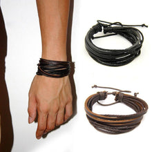 Load image into Gallery viewer, Bracelets Multilayer Unisex Leather Bracelet