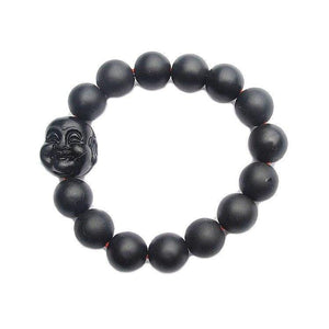 Smiling Buddha Healing Bian Stone Bracelet - Bracelets Ring to Perfection