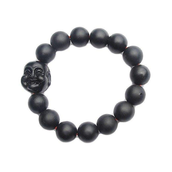 Smiling Buddha Healing Bian Stone Bracelet - Ring to Perfection