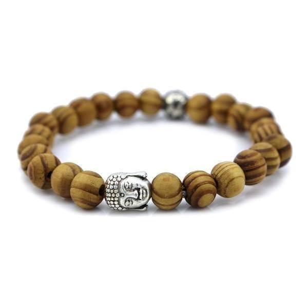 Wood Beads Tibetan Buddha Prayer Bracelet