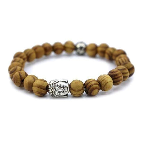 Bracelets - Wood Beads Tibetan Buddha Prayer Bracelet