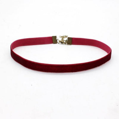 Colorful Velvet Choker Necklaces [8 Variants] - Ring to Perfection