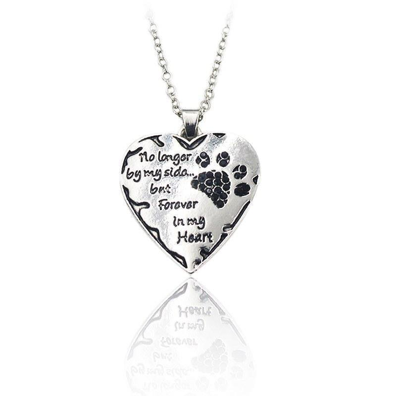 """No Longer by my Side"" Hand Stamped Charm Necklace [3 variations]"