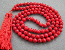 Load image into Gallery viewer, Necklaces Red Turquoise Mala Beads with Tassels