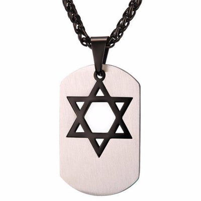 Star of David Dog Tag Pendant Necklaces [2 Variants] - Necklaces - Ring to Perfection