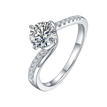 Load image into Gallery viewer, Rings 1.0CT Moissanite Silver Wedding Ring