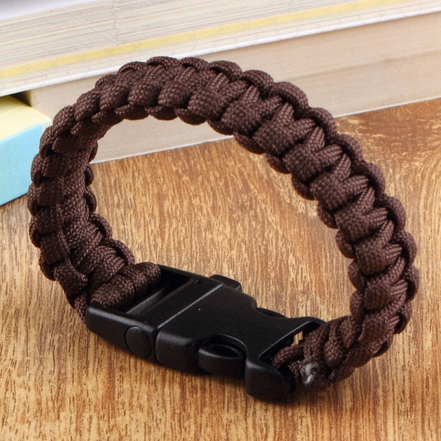Paracord Parachute Cord Bracelet with Whistle Buckle