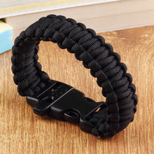 Load image into Gallery viewer, Paracord Parachute Cord Bracelet with Whistle Buckle
