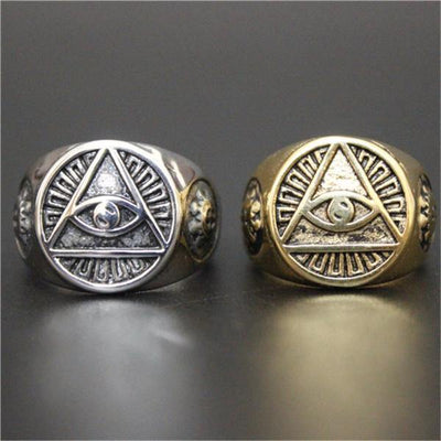 Eye of Providence Rings [2 Variants] - Ring to Perfection
