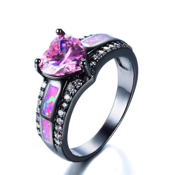 Pink Slocum Stone Opal Engagement Ring