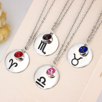Silver Pendant Birthstone Necklace [12 Variants] - Necklaces - Ring to Perfection