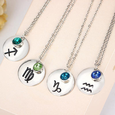 Silver Pendant Birthstone Necklace [12 Variants] - Ring to Perfection