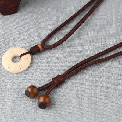 Charming Tagua Nut Pendant Necklace - Necklaces - Ring to Perfection