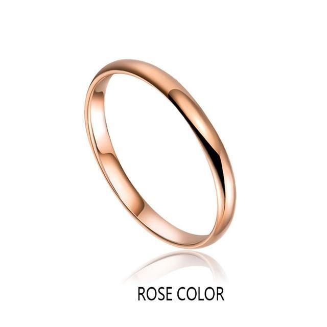 Rings 18K Rose Gold & White Gold Band Ring