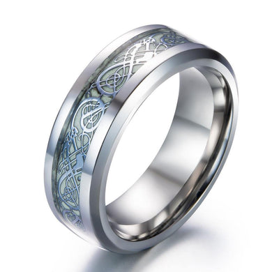 Rings Luminous Dragon Steel Ring [4 Options]