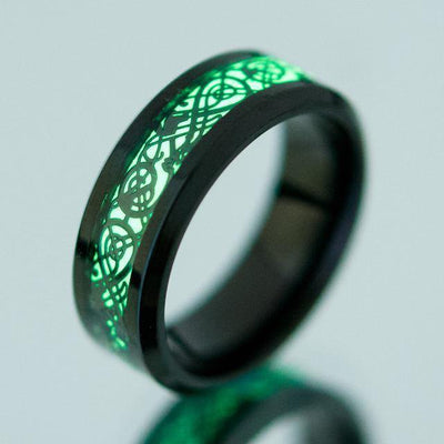 Luminous Dragon Steel Ring [4 Variants] - Ring - Ring to Perfection