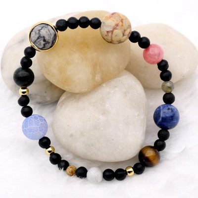 Natural Stone Milky Way Beaded Bracelet - Bracelets - Ring to Perfection