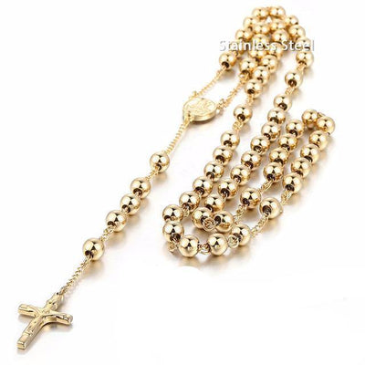 Jesus Christ Resurrection Rosary Cross Necklace [16 Variants] - Ring to Perfection