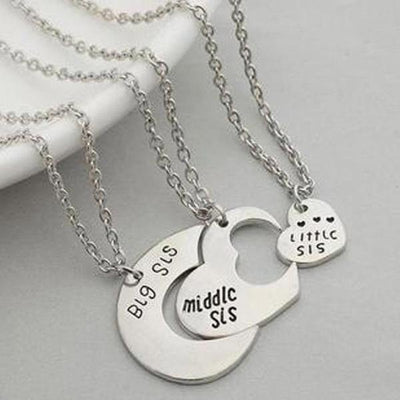 Sister Love Pendant Necklaces Set [2 Variants][Set of 3] - Ring to Perfection