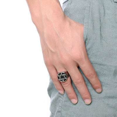 Star Of David Signet Ring - Rings - Ring to Perfection